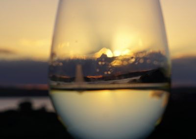 Wine glass, Beautiful Sunset, Waiheke Island